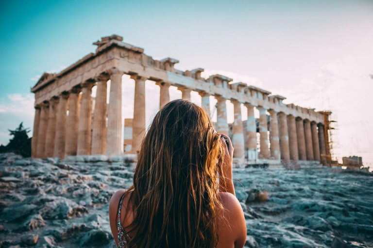 The Parthenon is the main building of the Acropolis of Athens, located in the center of the city.