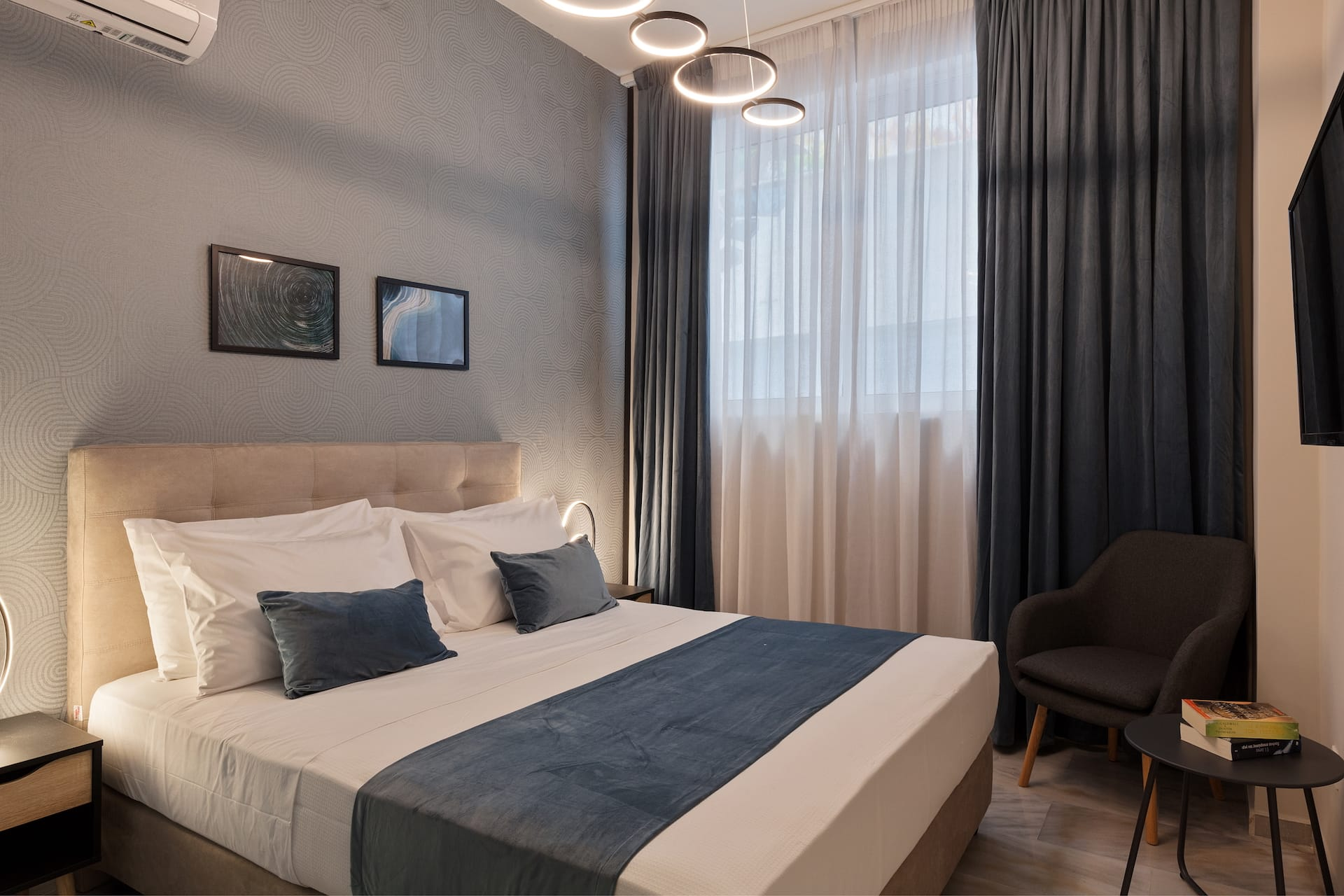 The Economy Double Room of Trendy by Athens Prime Hotels in the center of Athens, Greece.